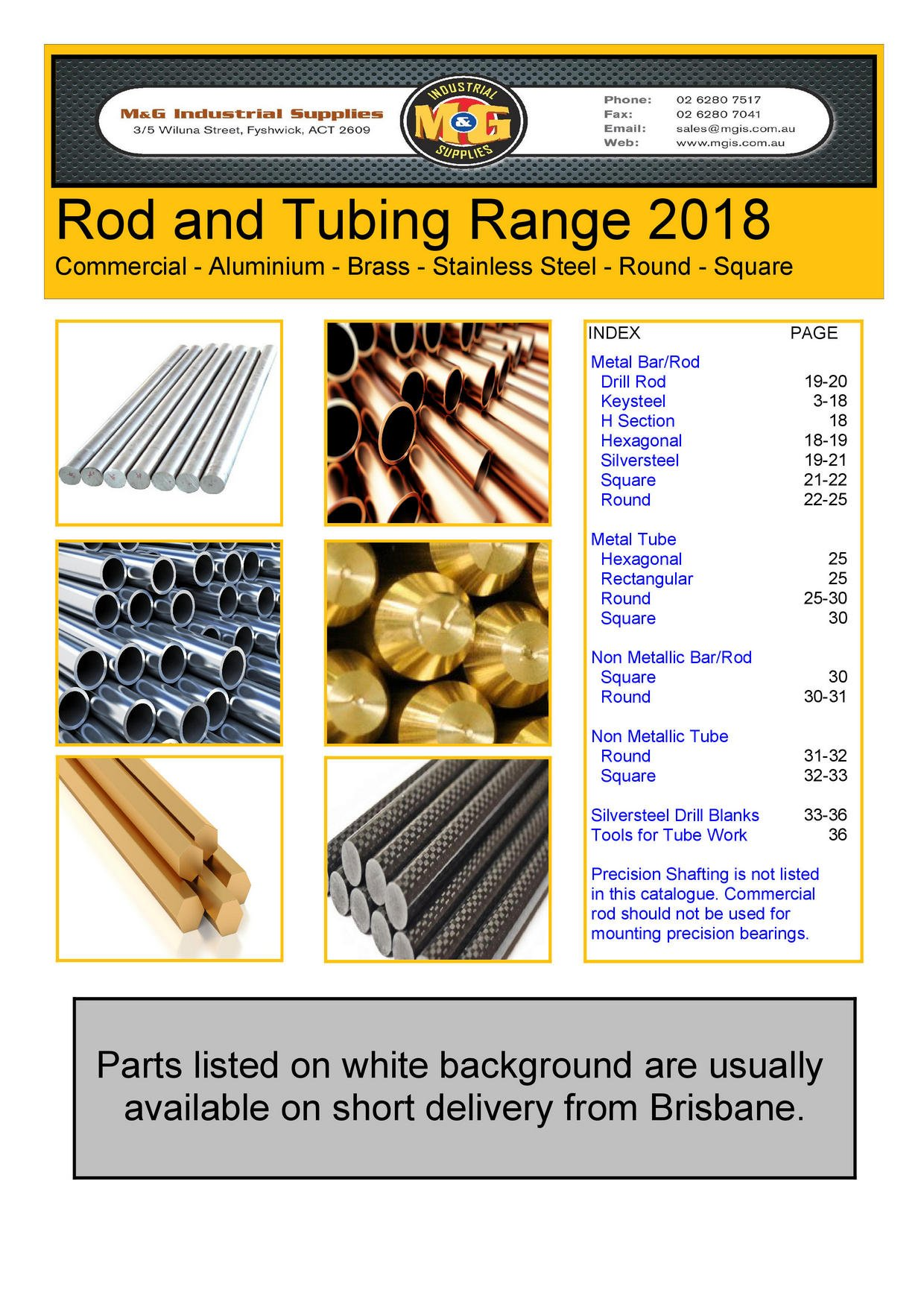 Download M&G Rod & Tube Catalogue